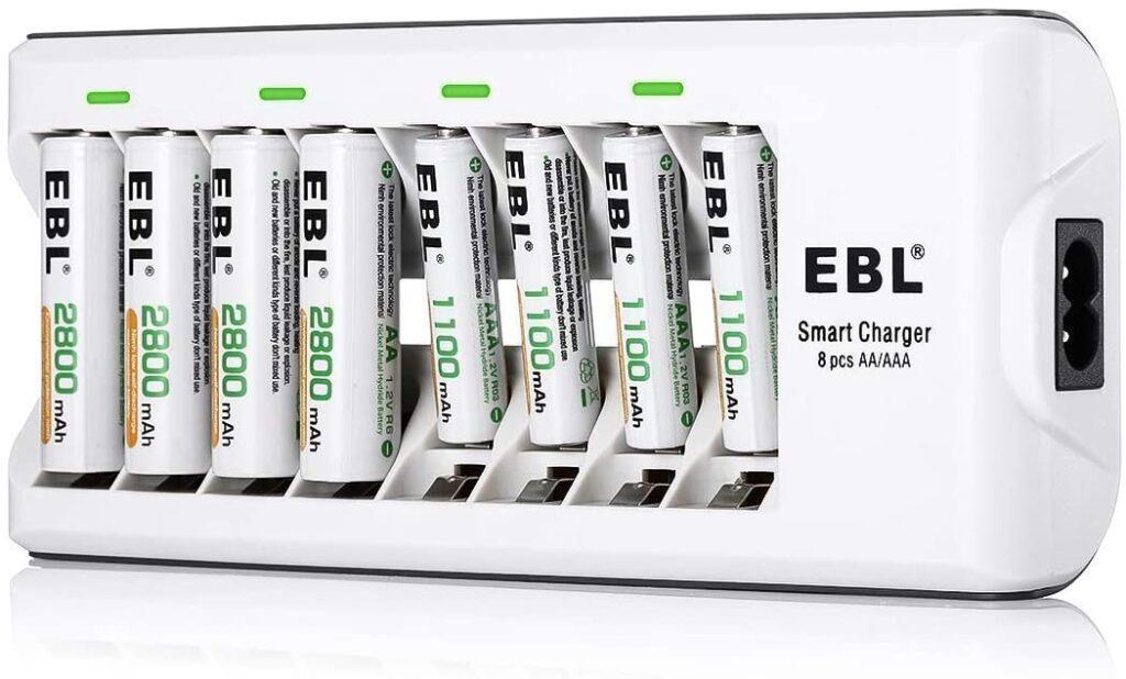 Cargador pilas EBL