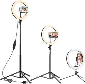 Anozer LED Anillo de luz con Trípode